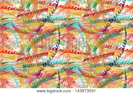 Rough Brush Colorful Zigzag Strips