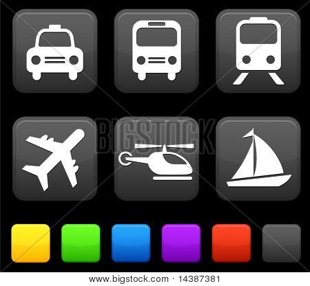 Transportation icon on internet buttons Original vector Illustration