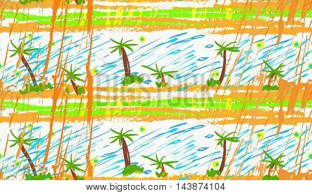 Rough Brush Palm Trees
