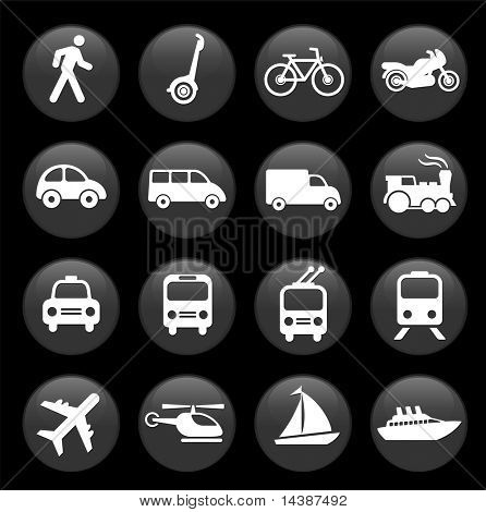Original Vektor-Illustration: Transport Icons design-Elemente