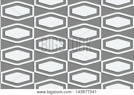 Perforated Squashed Hexagons In Grid