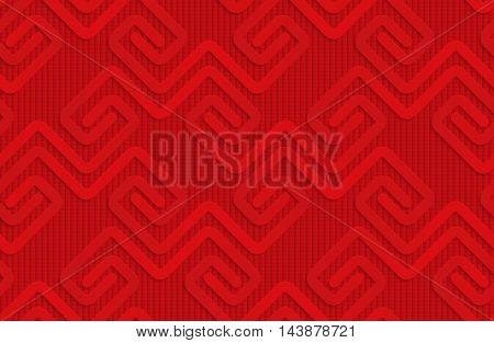 Red Square Fastening Spirals On Checkered Background