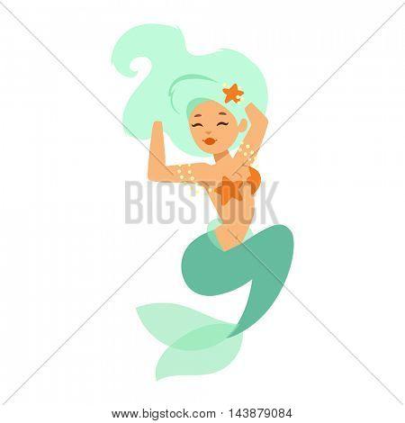 Mermaid nixie character vector
