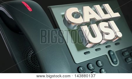 Call Us Telephone CTA Order Now Words Illustration