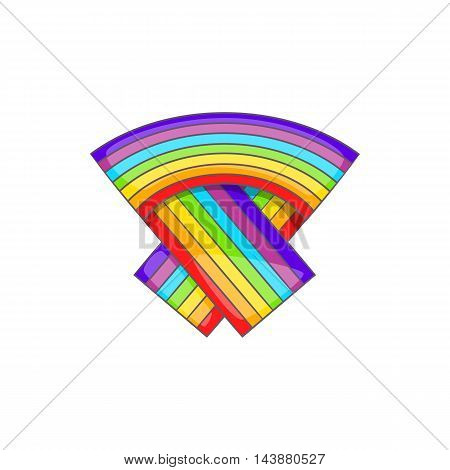 LGBT flag icon in cartoon style isolated on white background. Tolerance symbol