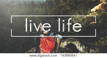 Live Life Balance Mind Nature Organic BIrth Concept