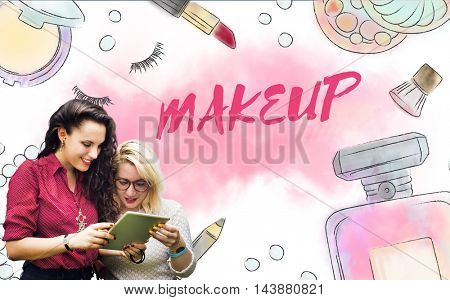 Chic Cosmetics Trendy Vogue Fashion Concept