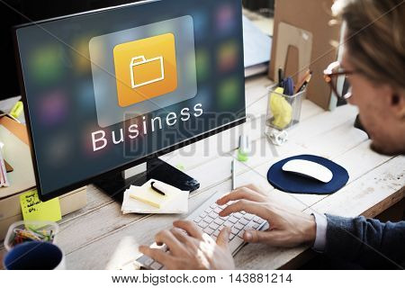 Business Digital Folder Application Concept