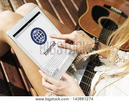 Keypad Global Communication Internet Concept
