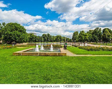 Gardens In Stuttgart Germany (hdr)