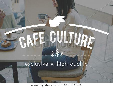 Cafe culture Coffee Break time Cafe Cafeteria Concept