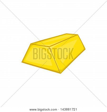 Gold ingot icon in cartoon style isolated on white background. Values symbol