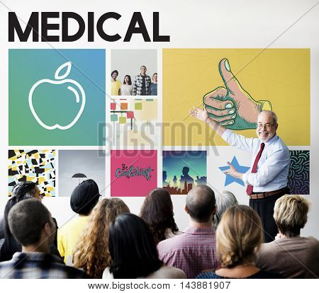 Apple Nutrition Healthcare Wellbeing Concept