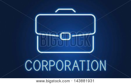 Business Briefcase Confidential Growth Collaboration Concept