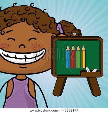 student cartoon color vector illustration design eps 10
