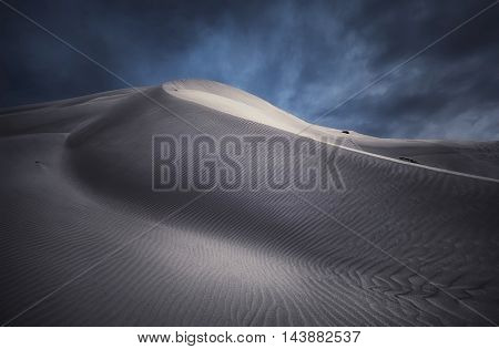 Light hits a sand dune in South Australia