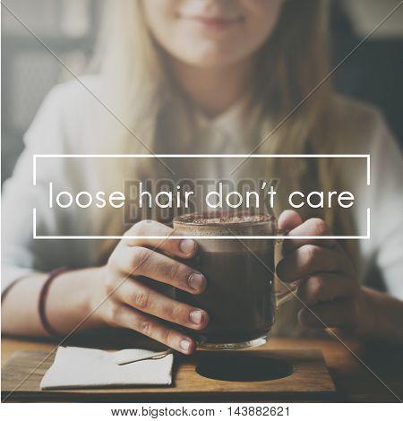 Loose Hair Do Not Care Bald Hairless Head Scalp Concept