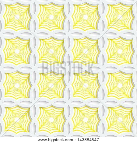 Colored 3D Yellow Striped Pointy Squares