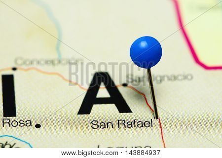 San Rafael pinned on a map of Bolivia