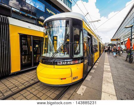 Tram In Berlin (hdr)
