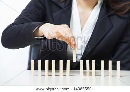 Business woman concept for growth success process