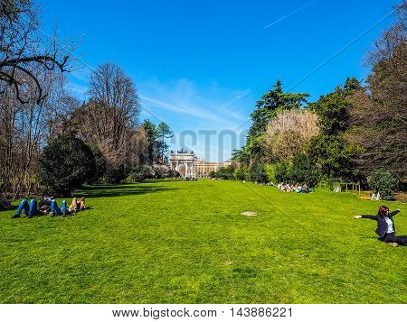 Parco Sempione In Milan (hdr)