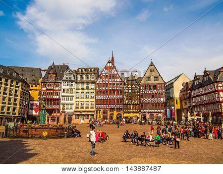Roemerberg In Frankfurt (hdr)