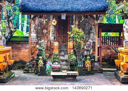 Bali,Indonesia-May 29,2010:View of Balinese temple at Bali,Indonesia.Bali's highlands & coasts are home to many ancient temples.Several of them have become the island's most iconic landmarks.