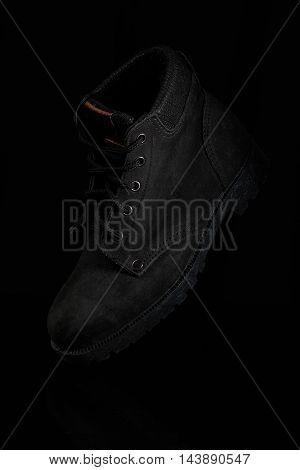 One Black Tourist Shoe