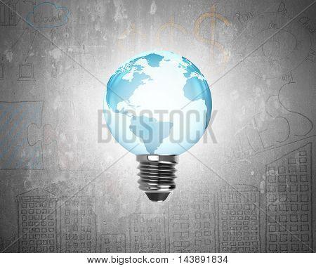 Light Bulb Of Globe Shape