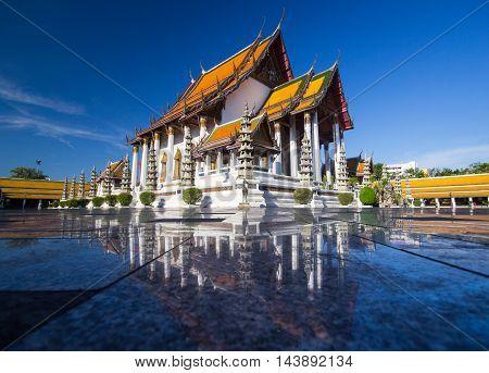 Temple in Bangkok Landmark Wat Suthat Thailand.