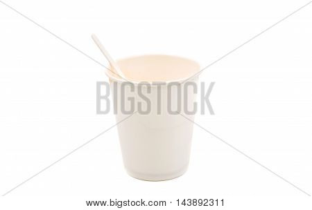 paper cup drink coffee on a white background
