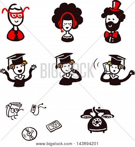 Student Lecturer Teacher School College University Graduate Graduation Icon Symbol Sign Pictogram