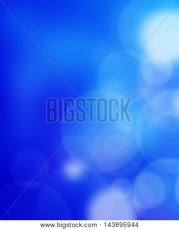 beautiful blue background with some blurred lights on it
