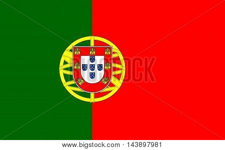 Flag of Portugal sign symbol vector national
