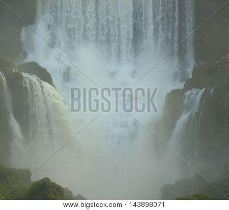 Iguaza Falls the fourth natural wonder of the modern world