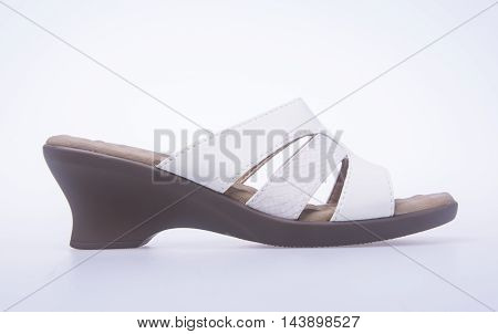 Shoe. Woman Sandal On Background. Woman Sandal On A Background.