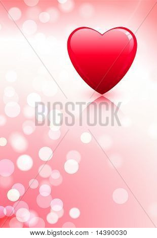 Hearts on Valentine's Day Love Background Original Vector Illustration AI8 Compatible