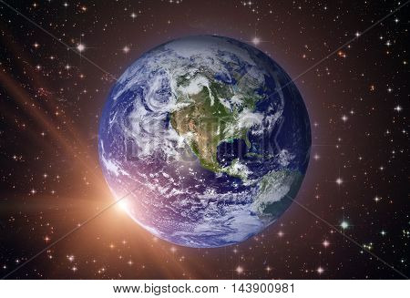 Solar System - Planet Earth. Earth Is The Largest And Densest Of The Inner Planets. It Has One Natur