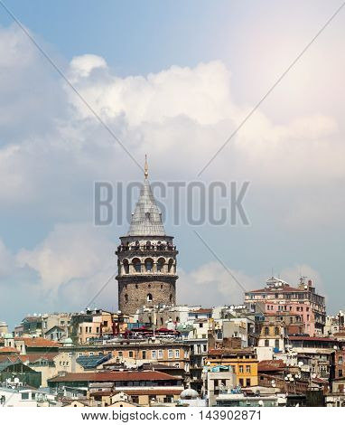 Istanbul Turkey Galata Old Tower