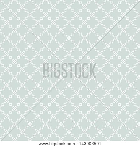 Seamless ornament in arabian style. Pattern for wallpapers and backgrounds. Light blue and white pattern
