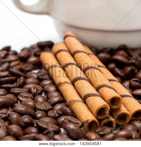 Cup Of Coffee Indicates Decaf Espresso And Fresh