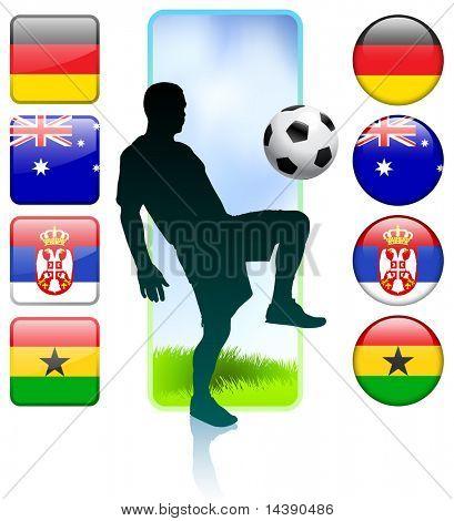 Soccer/Football Group D Original Vector Illustration