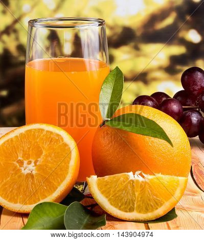Orange Juice Squeezed Means Citrus Fruit And Drinks