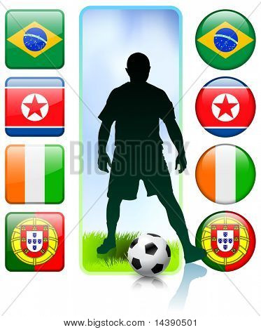 Soccer/Football Group G Original Vector Illustration