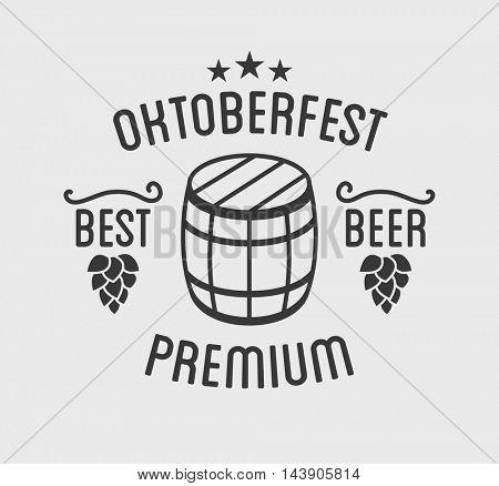 Oktoberfest beer festival lettering typography celebration retro typographic design template label, badge and logo. Vector Illustration.