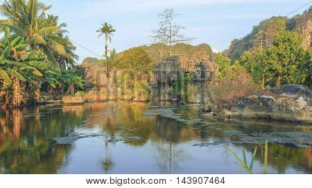 Karst stone forest area is a stretch cave located in the coastal districts and islands Pangkajene Indonesia. I have thousands of pictures of this cave
