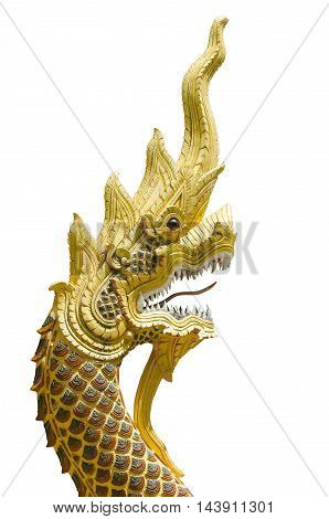 Na ga statue on white background of Thailand with clipping paths.