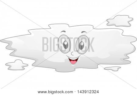Illustration Featuring a Fog Mascot Smiling Happily