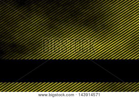Illustration of a yellow smoky background with banner and diagonal stripes